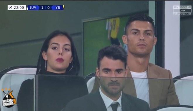 Cristiano Ronaldo sigue de cerca a Juventus: ve el duelo ante Young Boys desde las gradas [VIDEO]