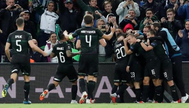 Krasnodar, con Christian Cueva, venció por 2-1 a Sevilla por el grupo J de la Europa League [RESUMEN Y GOLES]