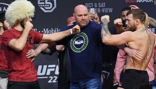 McGregor vs Khabib: revive lo mejor del picante pesaje previo a la gran pelea de UFC 229 [VIDEO]