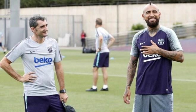 Esto dijo Ernesto Valverde sobre la molestia de Arturo Vidal por jugar poco en el Barcelona
