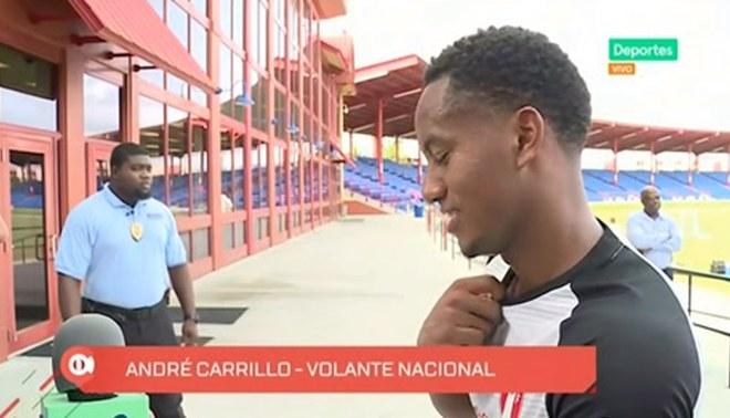 """André Carrillo: """"Me siento bien, con ganas de aportar a la Selección"""" [VIDEO]"""