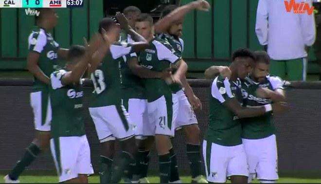 Deportivo Cali vs América de Cali EN VIVO: Andrés Pérez anota el 1-0 de cabeza para el 'azucareros' [VIDEO]
