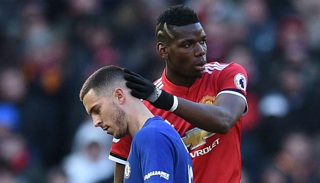 Paul Pogba admitió que Eden Hazard es el mejor futbolista de la Premier League