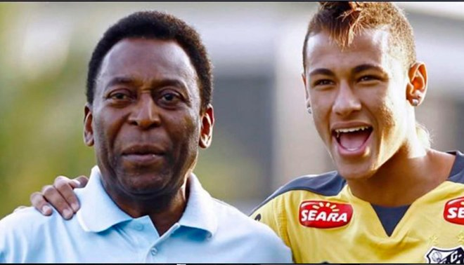 Pelé reta a Neymar en la Selección Brasileña