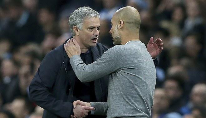 Pep Guardiola-José Mourinho: así va la rivalidad de los técnicos previo al derbi de Manchester