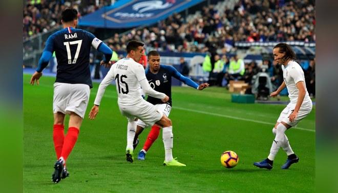 Image result for uruguay vs francia paris 2018