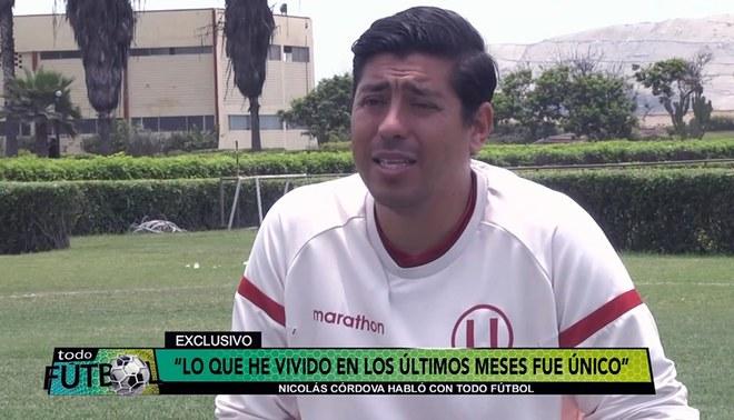 """Nicolás Córdova asegura que """"Universitario es lo máximo"""" y confiesa que sus jugadores lloraban en el camarín cuando estaban en zona de descenso"""