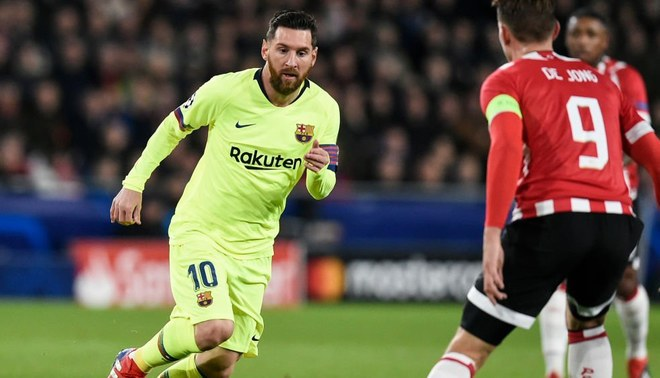 Image result for messi vs psv