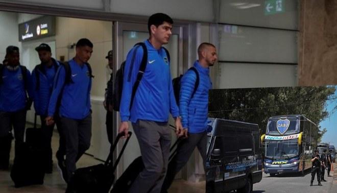 Plantel de Boca Juniors regresó a Argentina sin brindar declaraciones