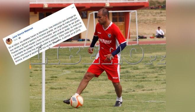 Julio García critica duramente a los directivos del 'Papa de América' después de fracasar en el ascender a Primera División