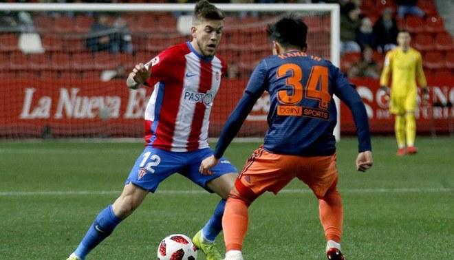 Sporting Gijón venció 2-1 a Valencia en la ida de los octavos de la Copa del Rey [RESUMEN]