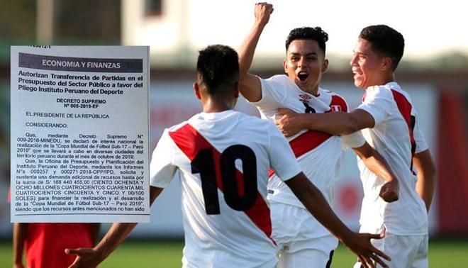 Gobierno Peruano invertirá 188 millones de soles para la organización del Mundial Sub-17