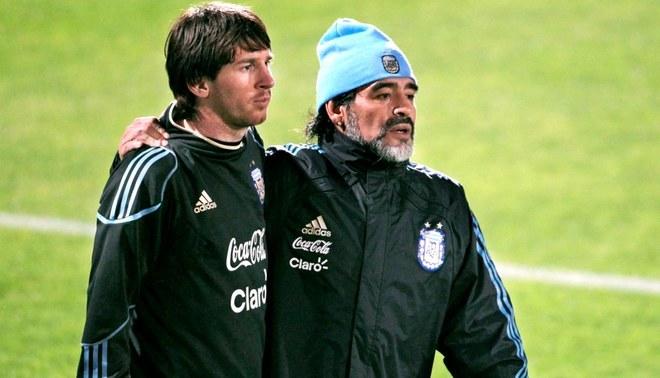 Diego Armando Maradona volvió a criticar duramente a Lionel Messi