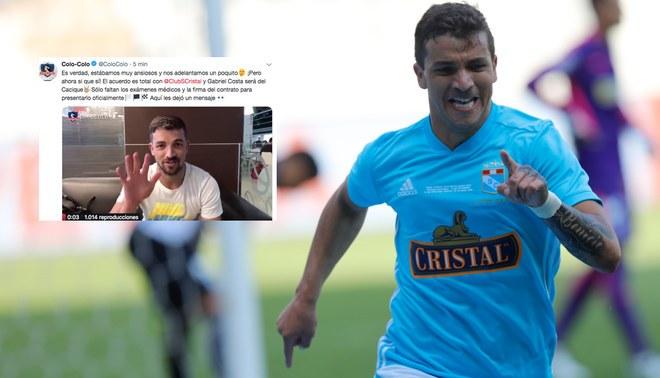 Colo Colo confirmó la llegada de Gabriel Costa a falta de los exámenes médicos [VIDEO]