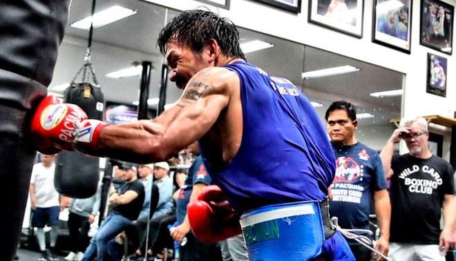 Manny Pacquiao defenderá su título wélter de la AMB este sábado en Las Vegas.