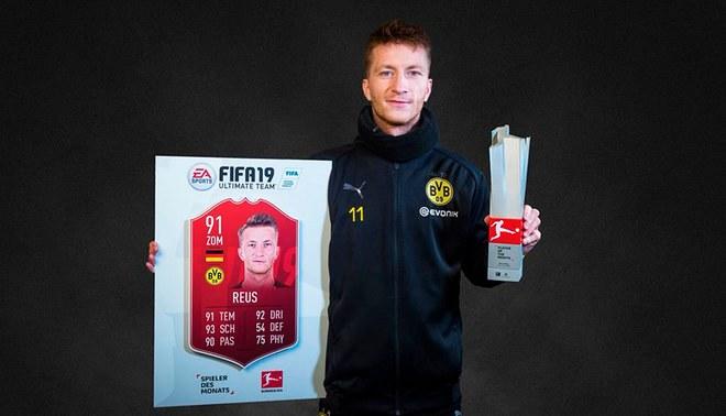 """Reus fue elegido, una vez más, el """"Mejor Jugador del mes"""" en la Bundesliga en el FIFA 19 [FOTO]"""
