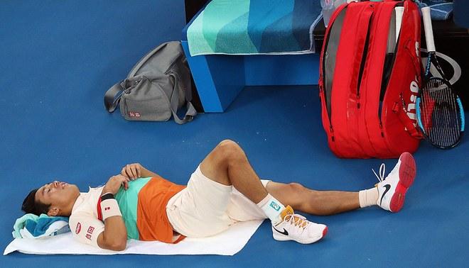 Abierto de Australia: Kei Nishikori justifica su abandono ante Novak Djokovic