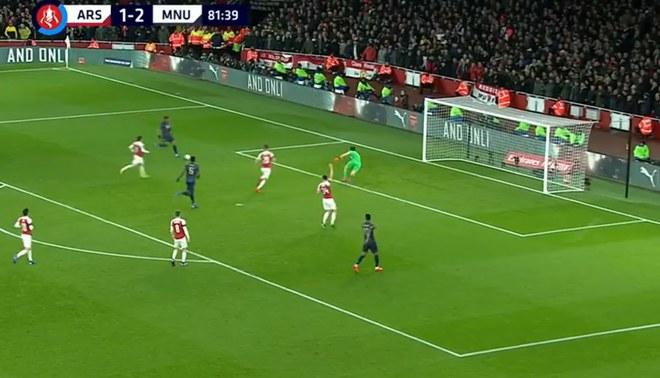 Anthony Martial anotó el 3-1 contra Arsenal tras una gran corrida de Pogba [VIDEO]