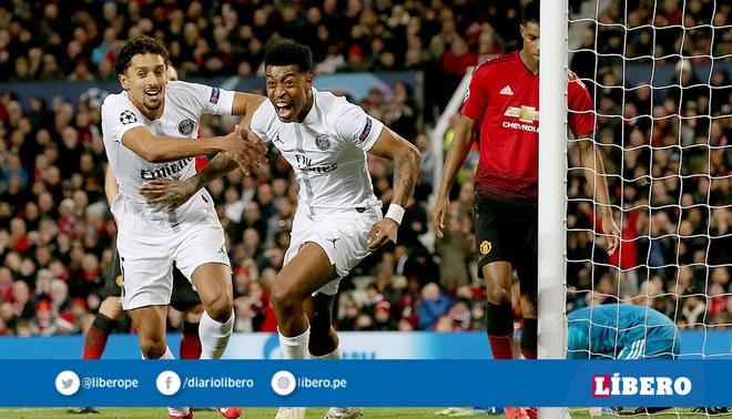 Manchester United cayó 2-0 con PSG en la ida por octavos de final de la  Champions League. Foto  EFE fe459ca84ebfe