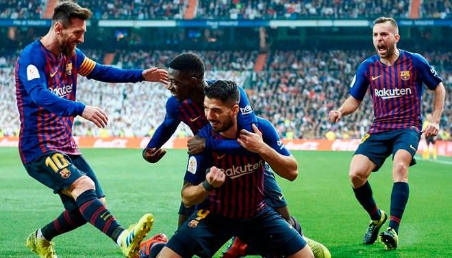 Barcelona goleó 3-0 a Real Madrid en el Santiago Bernabéu se avanzó a la  final de la Copa del Rey 2019. Foto  ESPN a6fc1e19fe9d2