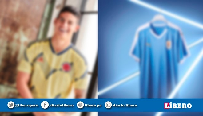 d77bdb8a4 Copa América Brasil 2019: Uruguay y Colombia presentaron sus respectivas  camisetas [FOTOS]   libero.pe