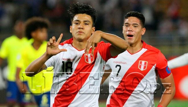 Perú venció 2-0 a Ecuador y avanzó al hexagonal Sub-17. | Foto: Líbero