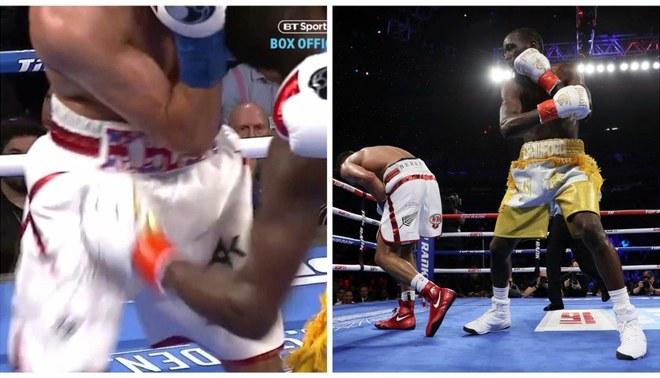 Terence Crawford derrotó, con vergonzoso golpe bajo, a Amir Khan y retuvo el cinturón de OMB | Floyd Mayweather