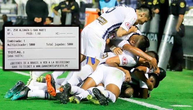 Hincha le apostó 5 mil soles a Alianza Lima y se ganó un dineral [FOTOS]