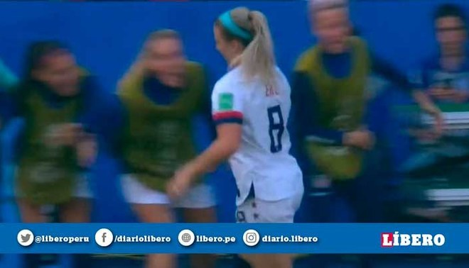 Chile vs Estados Unidos 2019 Mundial Femenino: Julie Ertz anota el 2-0 en la segunda jornada del Grupo F (Captura)
