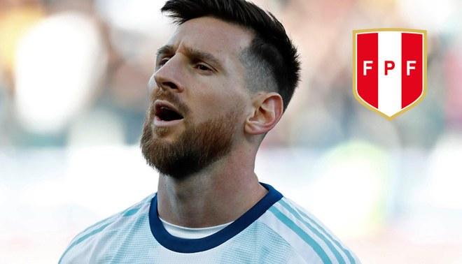 Lionel Messi saca cara por Perú previo al duelo por la final de la Copa América ante Brasil