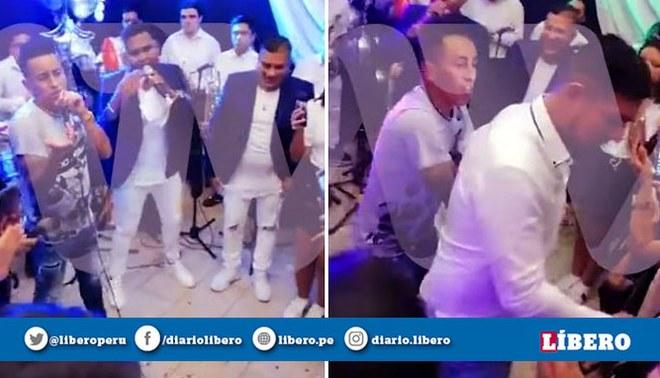 Christian Cueva se puso a cantar en la fiesta de Carlos Zambrano. Foto: ATV