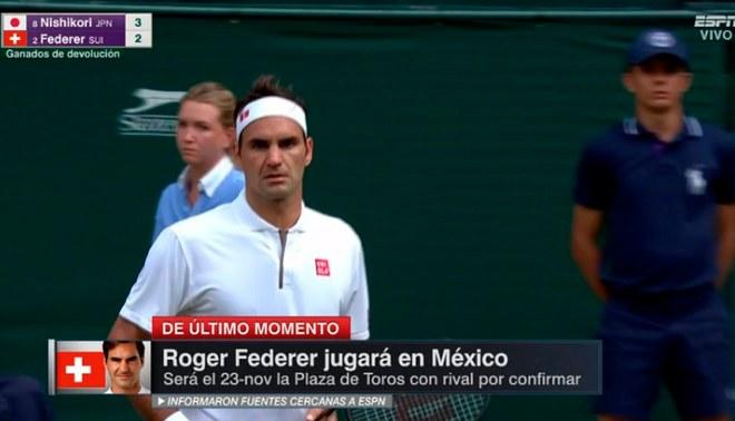 ¡Notición! 'Su Majestad' Federer jugará en noviembre en México [VIDEO]