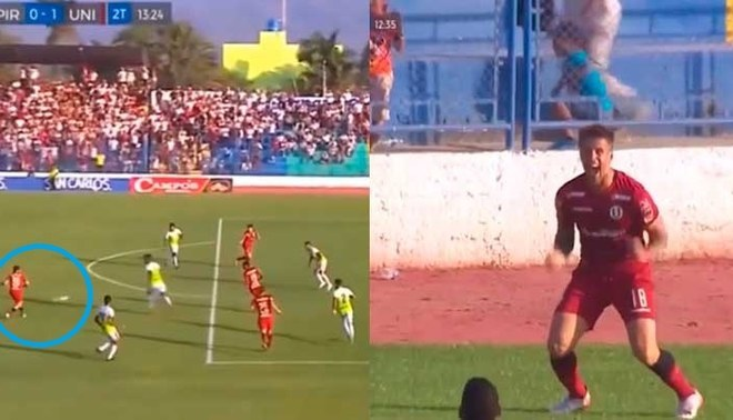 YouTube: Universitario vs Pirata FC Liga 1 Movistar EN VIVO GOL de Germán Denis para el 1-0 tras genialidad de Henry Vaca| VIDEO | yt