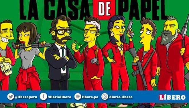 La Casa de Papel: Los personajes convertidos Los Simpson [FOTOS]