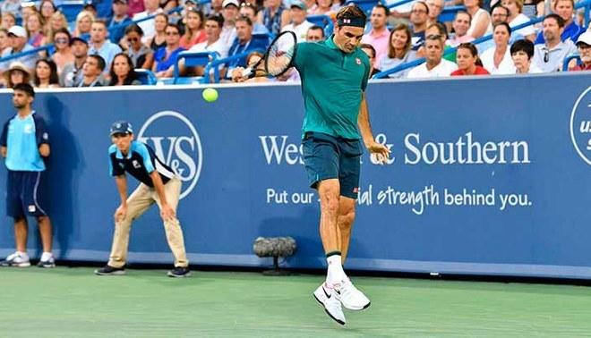 Roger Federer venció 2-0 Lóndero en el Masters 1000 de Cincinnati.   Foto: Twitter