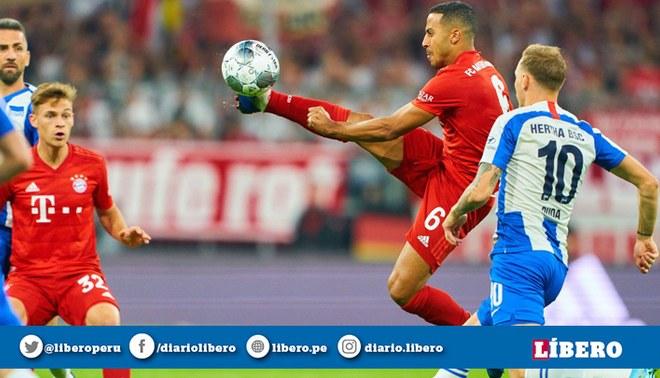 Bayern Múnich vs Hertha Berlín EN VIVO: 'Bávaros' empatan 0-0 en el inicio de la Bundesliga. Créditos: Bundesliga.