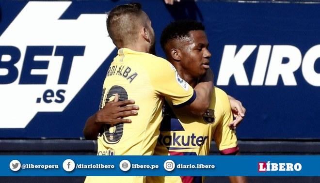 Barcelona empató 2-2 con el Osasuna por la fecha 3 de la Liga Santander. Créditos: EFE.