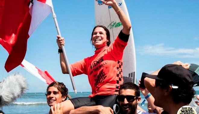 """Sofía Mulanovich tras ser campeona mundial de Surf: """"Todavía no me lo puedo creer, estoy en shock"""""""