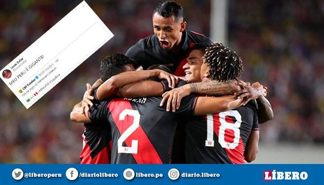 Hinchas brasileños celebraron la victoria peruana