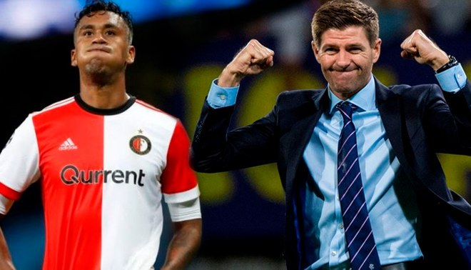 Renato Tapia fue titular en Feyenoord, pero cayó ante Rangers de Steven Gerrard. | Foto: Composición Líbero