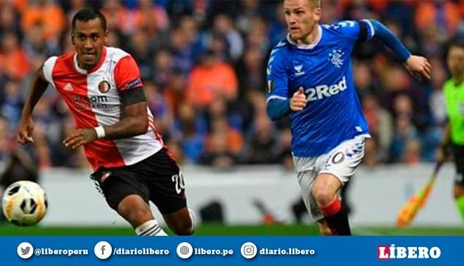 Renato Tapia no pudo evitar derrota de Feyenoord en la Europa League.