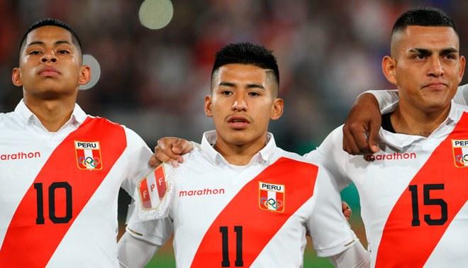 Kevin Quevedo, Andy Polar y Eduardo Rabanal con la Sub-23 en los Panamericanos Lima 2019.