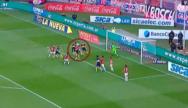 Boca Juniors vs San Lorenzo: Lisandro López anotó el 1-0 del xeneize en la Superliga. | Foto: Captura