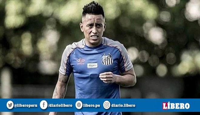 Christian Cueva también quedaría fuera de la lista para el juego contra Fluminense. Foto: Santos FC