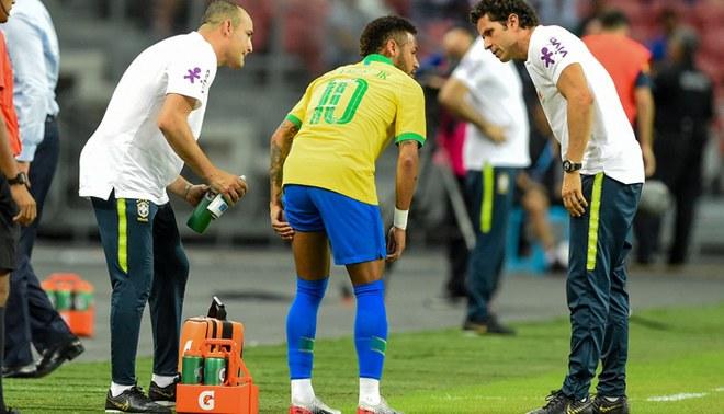 El cuerpo de la selección de brasil dio a conocer detalles de la lesión del brasileño   foto: AFP