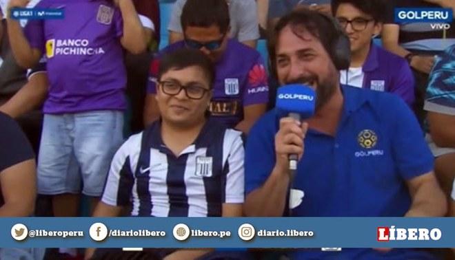"""El """"Loco"""" Wagner fue muy criticado en Facebook y Twitter por burlarse de hincha de Alianza Lima. Foto: Captura / Movistar TV"""