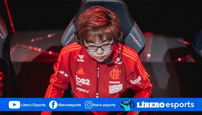 """Bruno """"Goku"""" Miyaguchi es jugador de League of Legends en el equipo Flamengo Esports.   Foto: Riot Games Brasil"""
