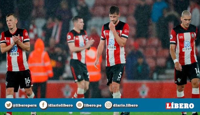 Jugadores del Southampton donarán su sueldo tras la goleada 9-0 sufrida ante Leicester. | Foto: EFE