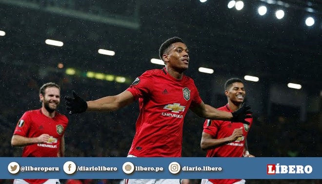¡A pura máquina! Anthony Martial anotó un tremendo golazo | Crédito: Reuters