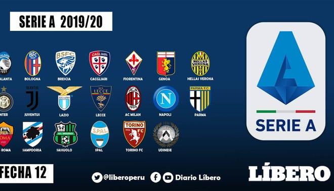 Serie A EN VIVO: fecha, hora y canales programación fecha 12